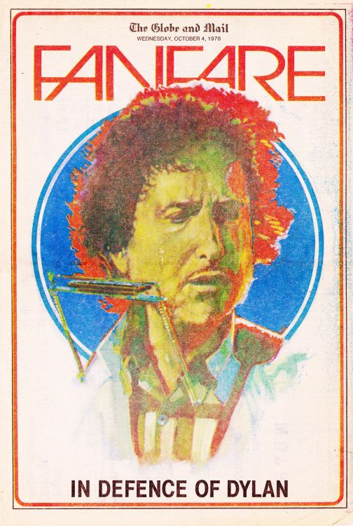 fanfare magazine Bob Dylan cover story