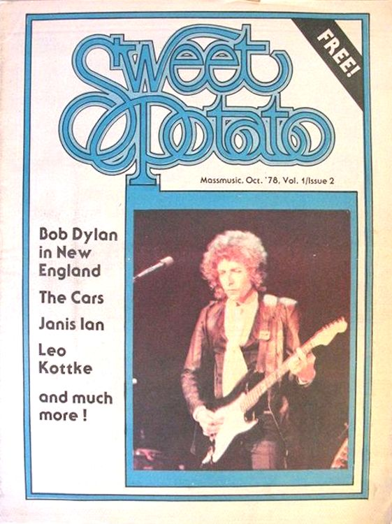 sweet potato October 1978 magazine Bob Dylan cover story