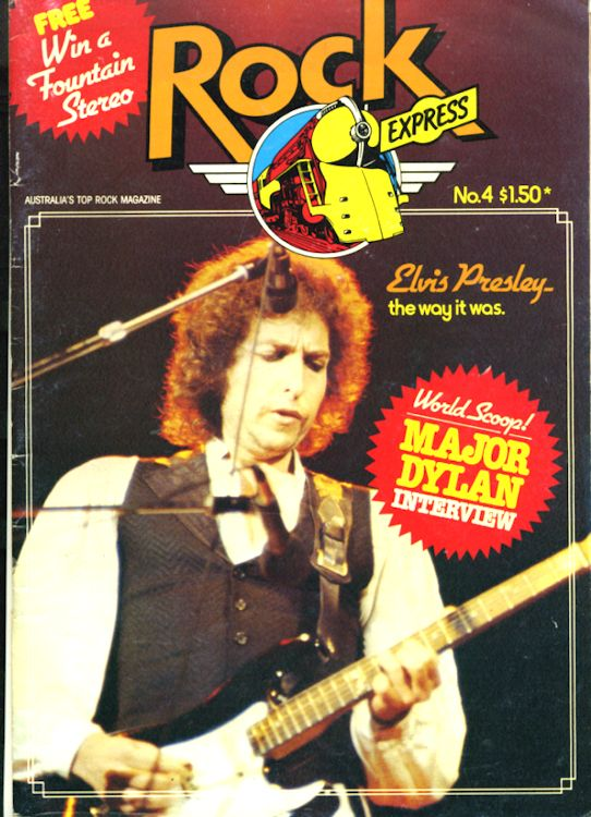 rock express 1979 magazine Bob Dylan cover story