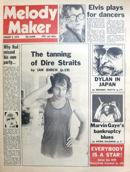 Melody Maker 6 January 1979 Bob Dylan cover story
