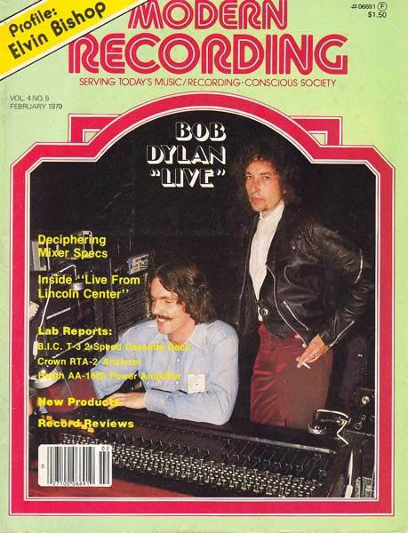 modern recording magazine Bob Dylan cover story