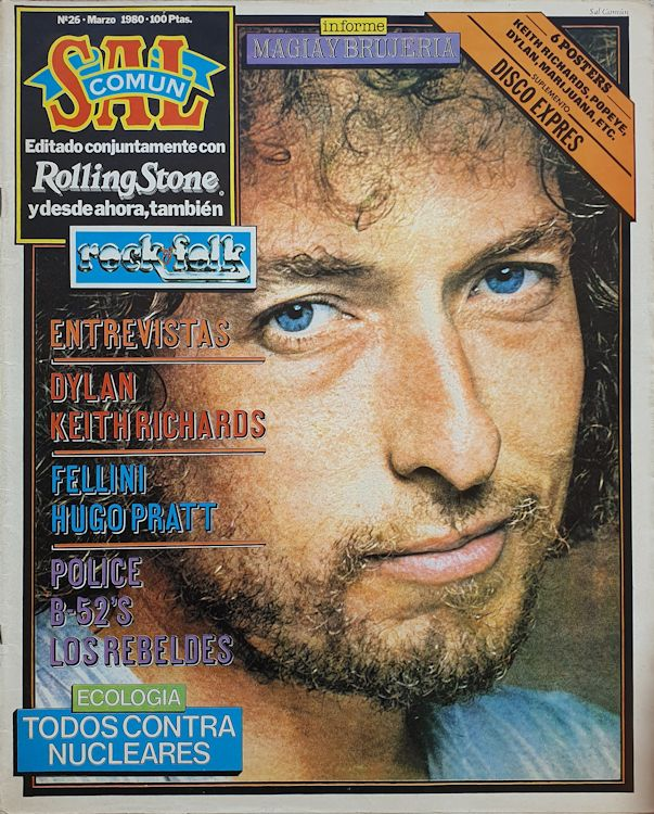 sal comun March 1980 magazine Bob Dylan cover story