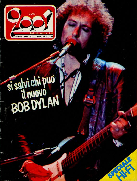 ciao 2001 27 magazine Bob Dylan cover story