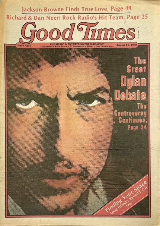 good times 1980 magazine Bob Dylan cover story