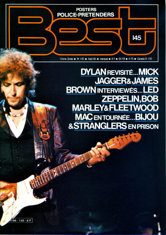 Best 1980 french magazine Bob Dylan cover story