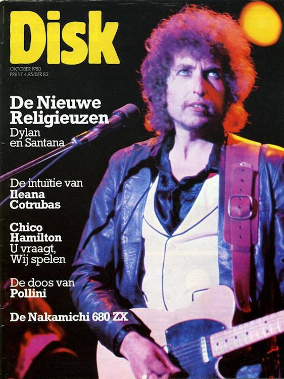 disk magazine Bob Dylan cover story