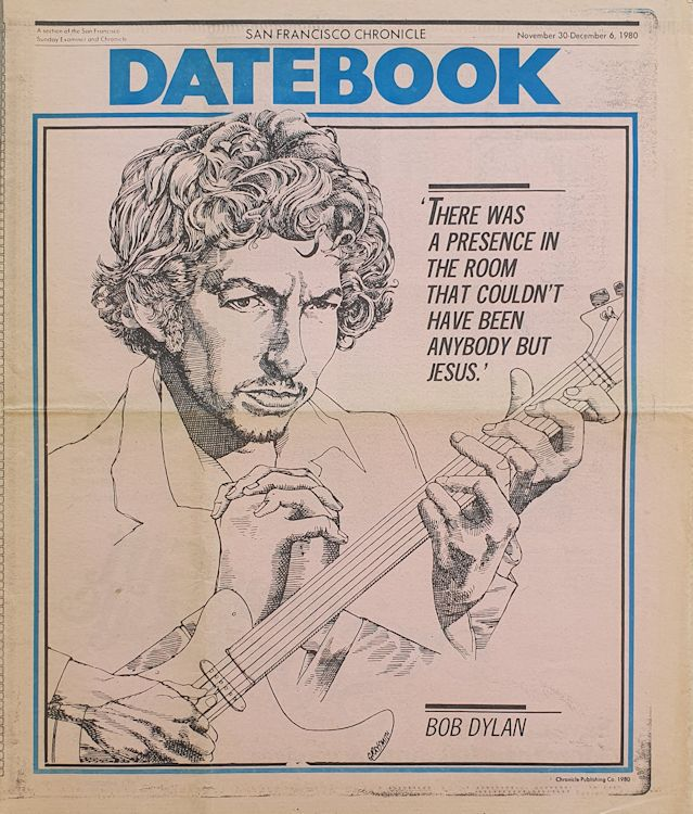 datebook 30 December 1980 san francisco  chronicle  Bob Dylan cover story