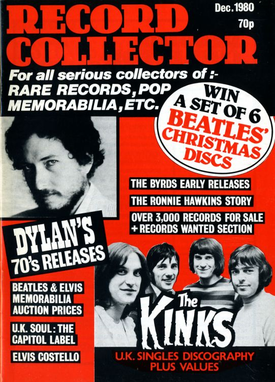 record collector magazine #16 uk Bob Dylan cover story