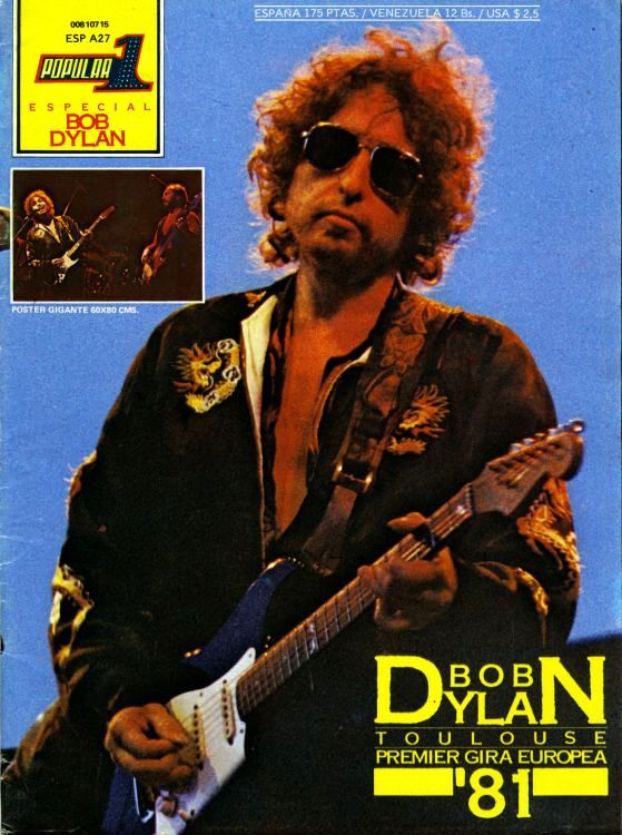 popular 1 spain 1981 magazine Bob Dylan cover story