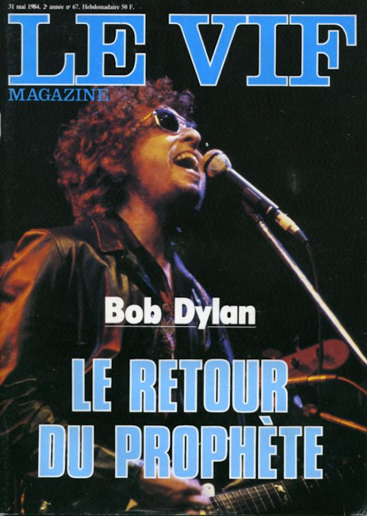 le vif magazine Bob Dylan cover story