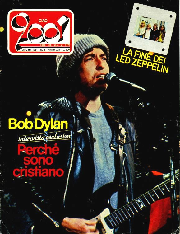 ciao 2001 4 magazine Bob Dylan cover story