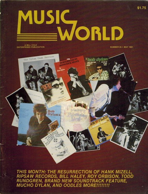 music world magazine Bob Dylan cover story