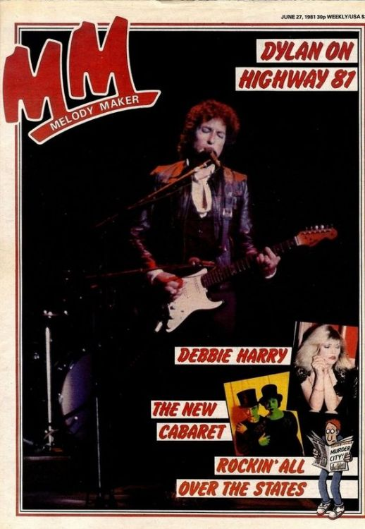 Melody Maker 27 June 1981 Bob Dylan cover story