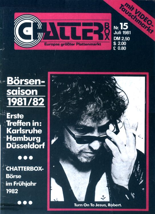chatter box magazine Bob Dylan cover story