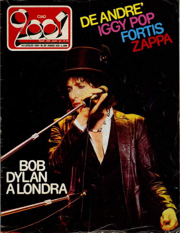 ciao 2001 29 magazine Bob Dylan cover story