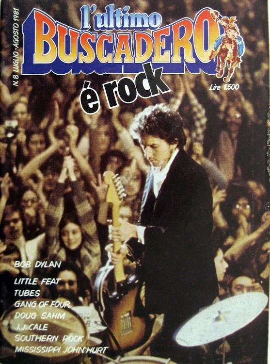ultimo Buscadero 8 magazine Bob Dylan cover story