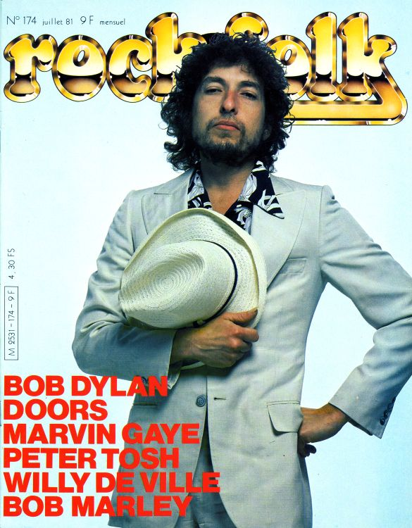 rock & folk magazine france #174 Bob Dylan cover story