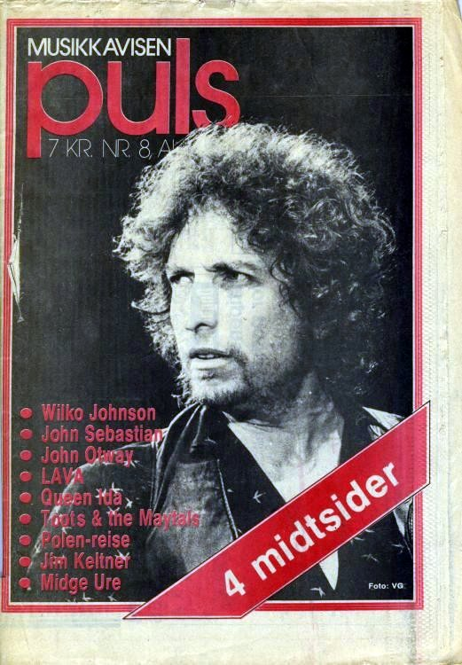 puls norway 1981 magazine Bob Dylan cover story