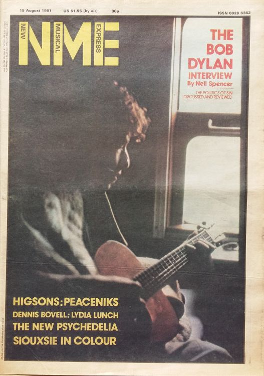 New Musical Express 15 August 1981 Bob Dylan cover story