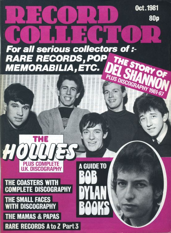 record collector magazine #26 uk Bob Dylan cover story