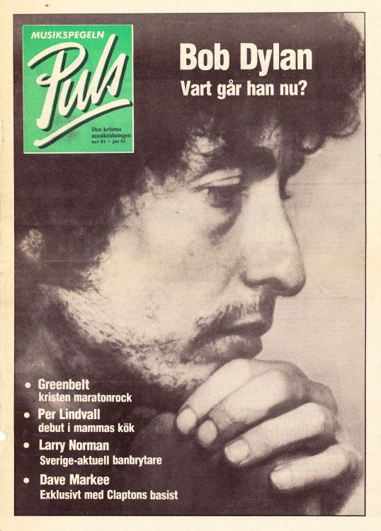 puls sweden magazine Bob Dylan cover story