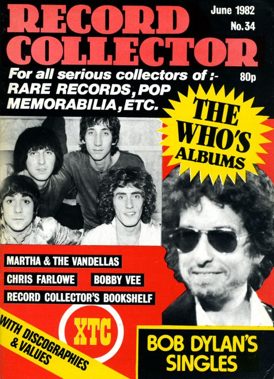 record collector magazine #34 uk Bob Dylan cover story