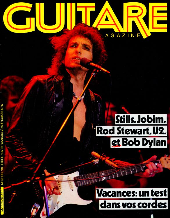 guitare magazine Bob Dylan cover story