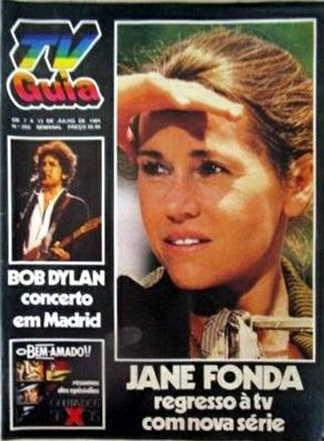 tv guia portugal magazine 1984 Bob Dylan cover story