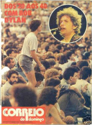 correio do domingo magazine Bob Dylan cover story
