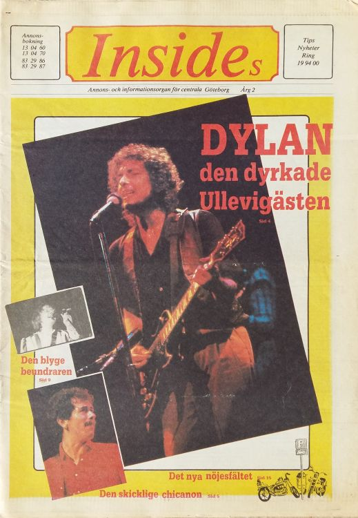 insides magazine Bob Dylan cover story