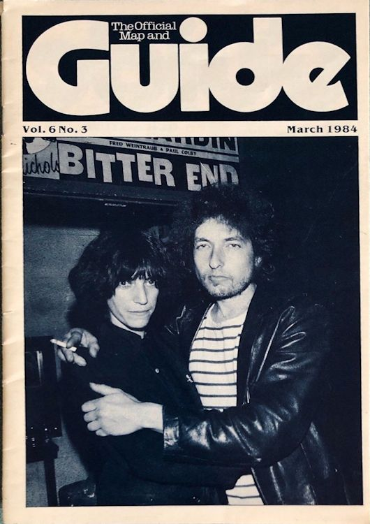 the official map guide new york Bob Dylan cover story