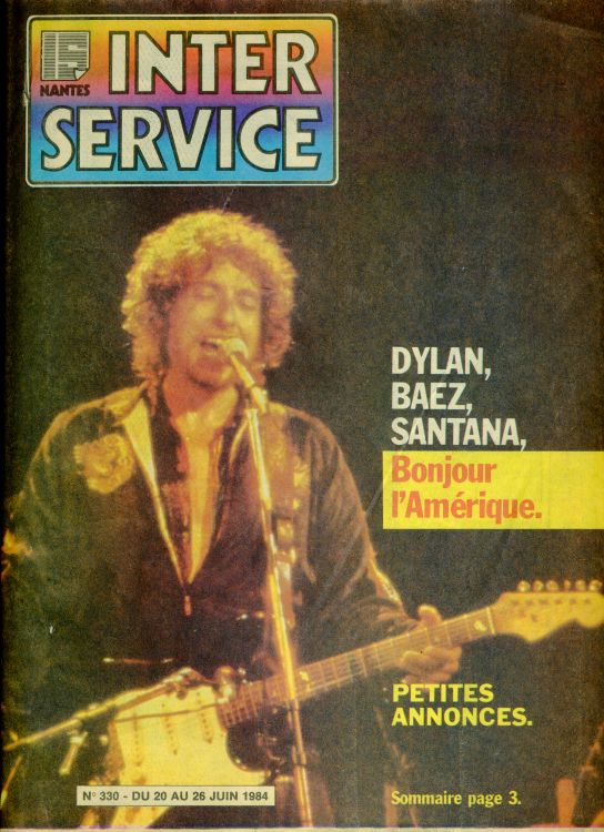inter service nantes magazine Bob Dylan cover story