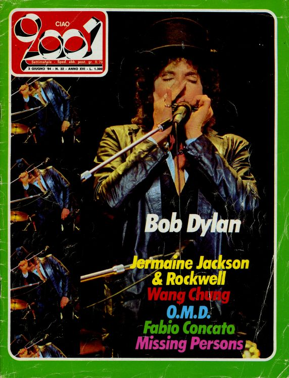 ciao 2001 22 magazine Bob Dylan cover story