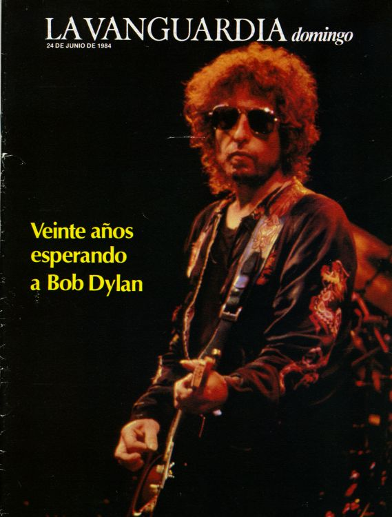 la vanguardia spain June 1984 magazine Bob Dylan cover story