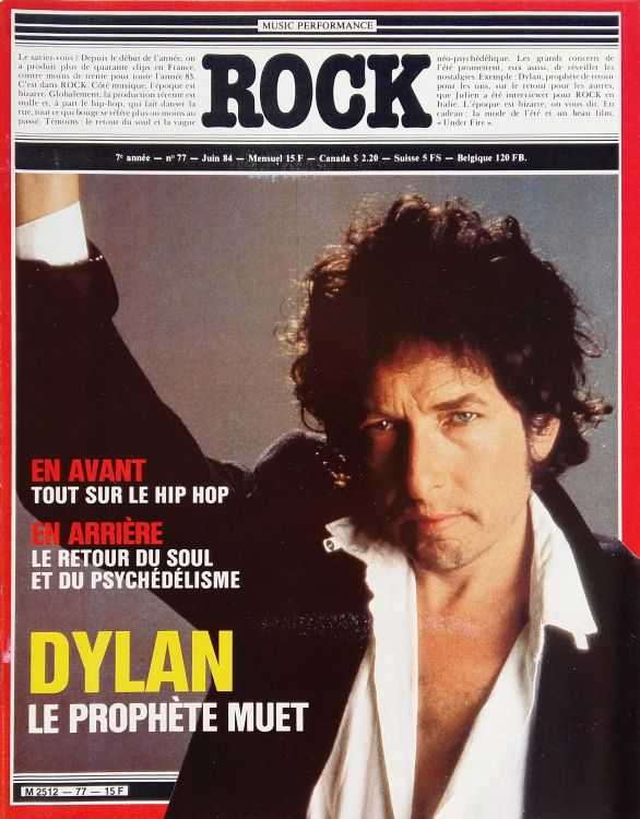 rock #77 france magazine Bob Dylan cover story