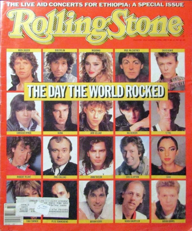 Rolling Stone special live aid 1985 magazine Bob Dylan cover story