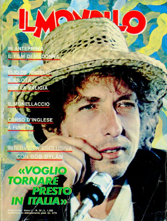 monello magazine Bob Dylan cover story