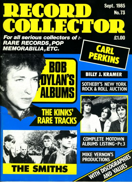record collector magazine #73 uk Bob Dylan cover story