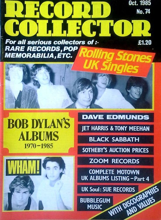 record collector magazine #74 uk Bob Dylan cover story