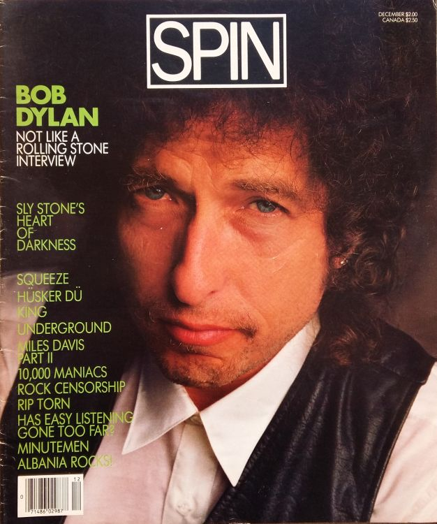 spin usa magazine Bob Dylan cover story