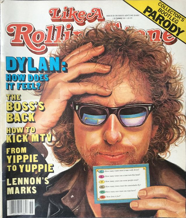 like a rolling stone parody magazine Bob Dylan cover story
