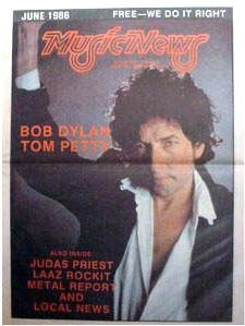 music news magazine Bob Dylan cover story