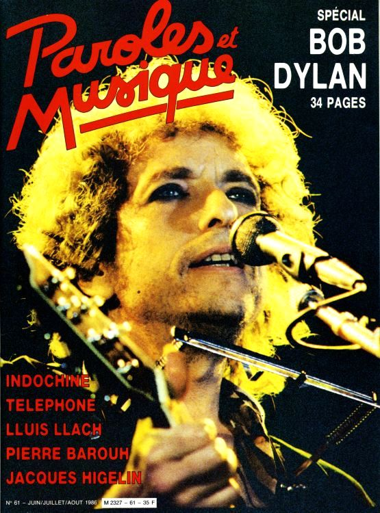 paroles et musique magazine Bob Dylan cover story