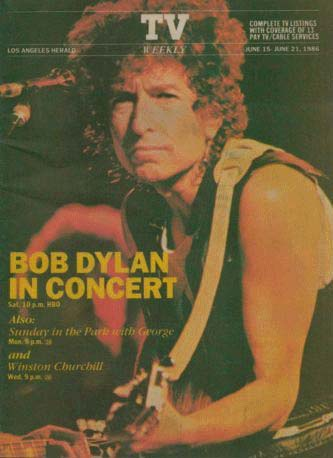 los angeles herald tv weekly magazine Bob Dylan cover story