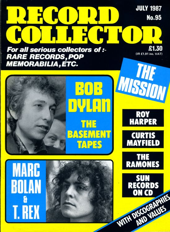 record collector magazine #95 uk Bob Dylan cover story