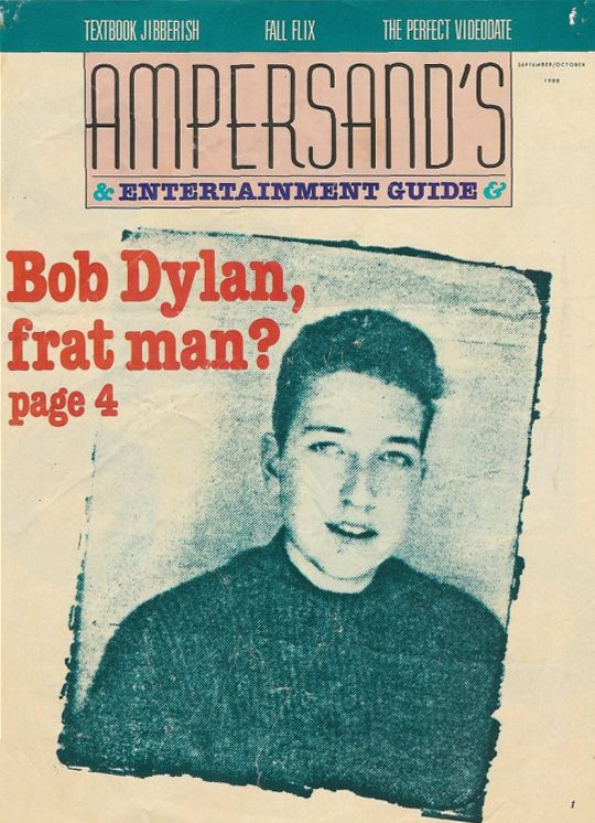 ampersand's entertaiment guide magazine Bob Dylan cover story
