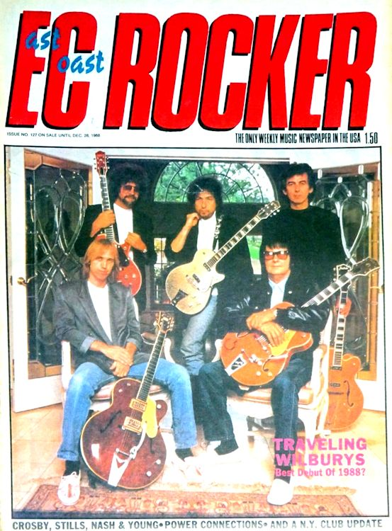 EC rocker December 1988 magazine Bob Dylan cover story