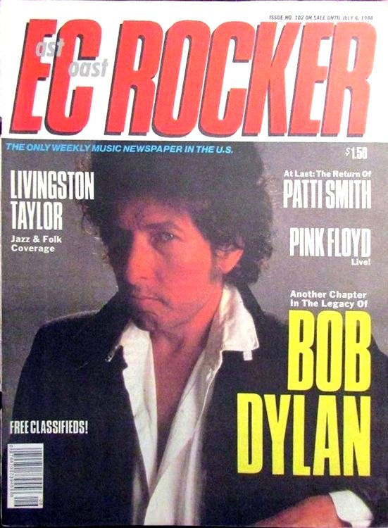 EC rocker June 1988 magazine Bob Dylan cover story