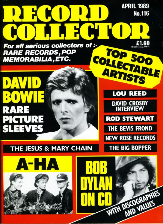 record collector magazine #116 uk Bob Dylan cover story