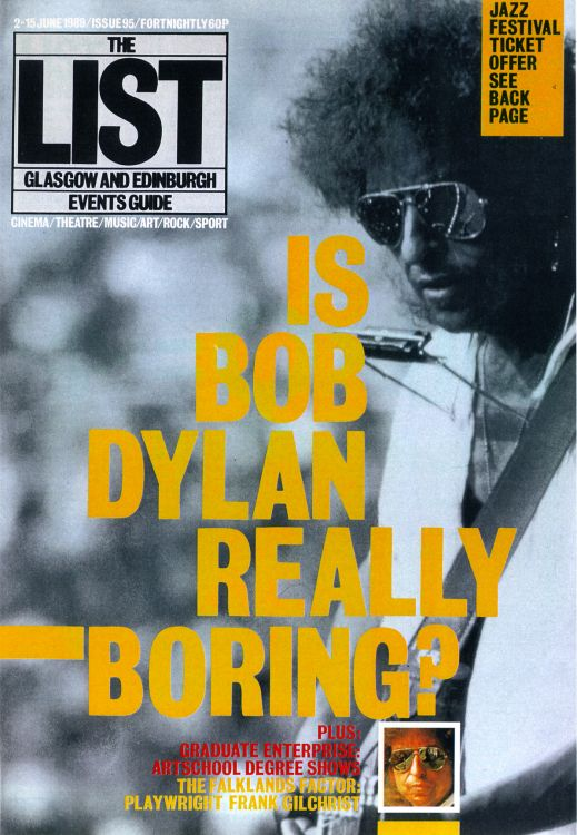 the list uk scotland magazine Bob Dylan cover story